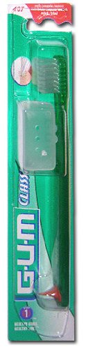 GUM Classic Toothbrush - Characteristic : 407: compact, flexible, 4 rows