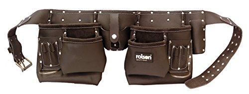 Rolson 68885Werkzeuggürtel, mehrere große und kleine Taschen, Dunkelbraun