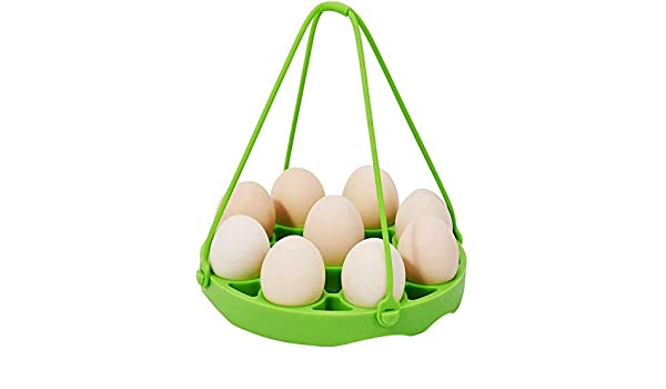 8 Quart Pressure Cookers Sling Holds 9 Eggs for 5//6 SNOWINSPRING Silicone Egg Steamer Rack for Pressure Pot Accessories