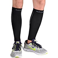 firelion Calf Compression Leg Sleeves Shin Splint Guard Socks Sleeves – Great For Basketball, Running, Walking, Travel, Cycling di AIDS Faster Recovery, nero, S / M