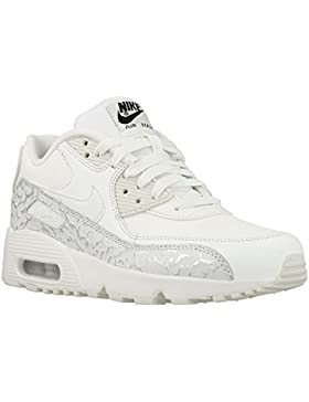 Nike , Mädchen Sneaker weiß Summit White/Black/Metallic Silver/Summit White