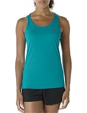 Asics Tank Camiseta de Tirantes, sin Género, Azul, XL
