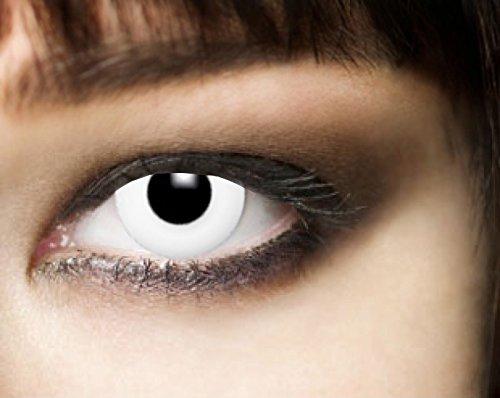 White Zombie, weiße 3-Monatslinsen, PAAR, weiß, Unheilig, Twilight, Vampir, Crazy, (Permanente Kontaktlinsen)