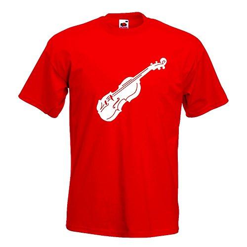 Kiwistar Geige - Violine - Musik T-Shirt in 15 Verschiedenen Farben - Herren Funshirt Bedruckt Design Sprüche Spruch Motive Oberteil Baumwolle Print Größe S M L XL XXL Rot