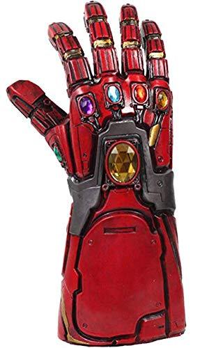 Iron Man Handschuhe Endgame Cosplay Tony Stark Thanos Infinity Rot Latex Gauntlet mit Nicht Glühend Power Gems Replica Erwachsene Halloween Verkleiden Kostüm Merchandise Zubehör (Iron Man Verkleiden)