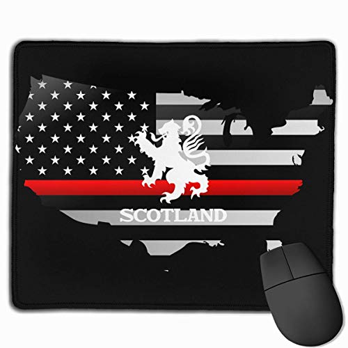 Lion Rampant Scotland Scottish Thin Red Line Flag Maus-Pads Non-Slip Gaming Mouse Pad Mousepad for Working,Gaming and Other Entertainment