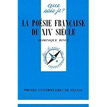 Poésie française du XIXe siècle