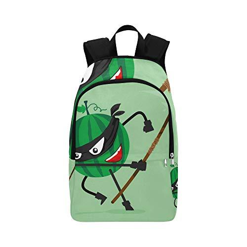 Scheiben von Red Girl Heart Wassermelone Casual Daypack Reisetasche College School Rucksack für Herren und (Kostüm Kunst Konzept)