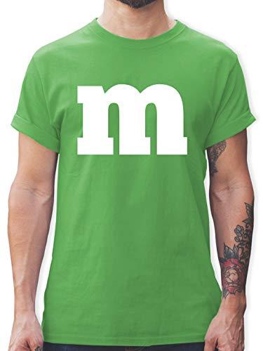 Grüne Gruppe Kostüm - Karneval & Fasching - Gruppen-Kostüm m Aufdruck - L - Grün - L190 - Herren T-Shirt und Männer Tshirt
