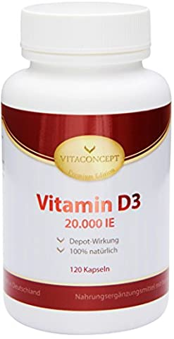 Vitamin D3 20.000 IE Depot *nur eine Tablette alle 20