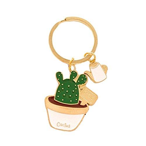 Joyfeel buy 1 Stück Schlüssel Anhänger Kaktus-Modellierung Schlüsselanhänger Kreativ Schlüsselbund Schlüsselring Deko Anhänger für Schlüssel/ Auto/Tasche /Handy
