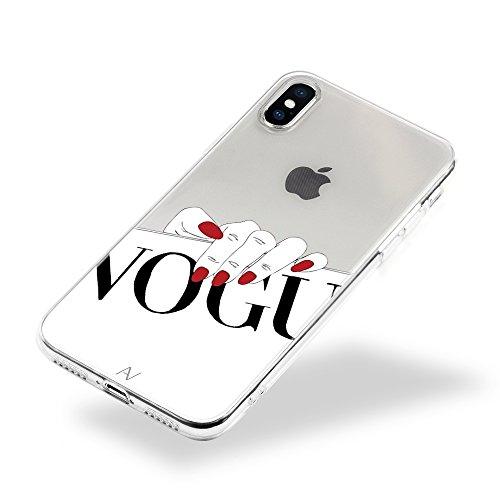 AVANA iPhone XS Hülle, iPhone X Hülle Schutzhülle Slim Fit Case Durchsichtige Transparente Handyhülle Silikon TPU Schale Muster Klar Cover für Apple iPhone XS/iPhone X Motiv (Vogue)