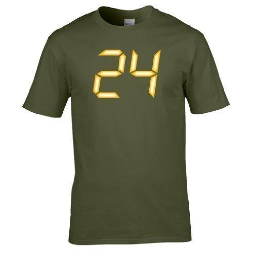 24 logo CTU voll Bedrucktes T-shirt Olivgrün