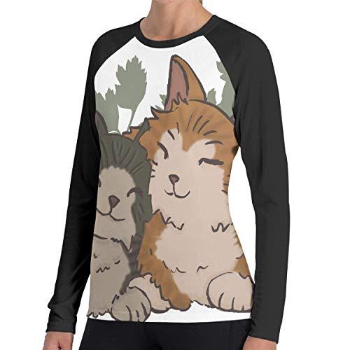 Herren Langarm Classic T-Shirt, Women's Casual Cat Couple Long Reglan T-Shirt -
