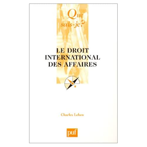 Le Droit international des affaires