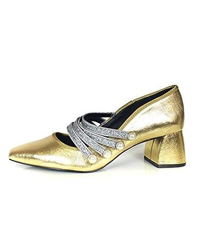 Escarpins Dores - Zara Femme Escarpins dorés à brides 7212/201