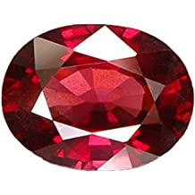 Pinkcity Gems Ruby/Manik 9.25 Ratti Lab Certified Natural Ruby Gemstone for Astrological Purpose