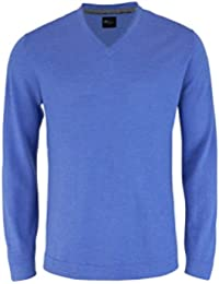 VENTI Pullover extra langer Arm V-Ausschnitt blau AL 72
