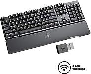 Gaming Keyboard,GameSir GK300 Wireless Mechanical Gaming Keyboard,1ms Low Latency Agility X 2.4GHz Technology,