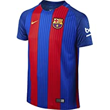 Nike Fcb Yth Ss Hm Stadium Jsy Camiseta Línea F.C. Barcelona, Niños, Azul (Sport Royal / Gym Red / University Gold), L