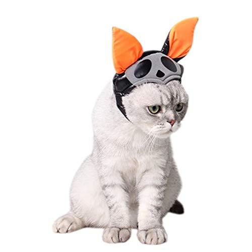 Haustier Geist Kostüm - Katze Hund Hut, Schwarze Fledermaus Hut kürbis Urlaub verkleiden schmuck kleines Haustier Halloween Geist Gap,m