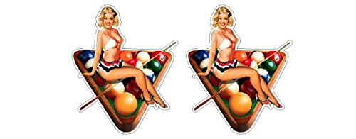 Oldschool 9-Ball Rack Billard Pinup Girl Rockabella Vintage Aufkleber Sticker + Gratis Schlüsselringanhänger aus Kokosnuss-Schale + Auto Motorrad Laptop Tuning Biker Rockabilly Bobber 1{3f82da378516ba26290475f3e7cd835219bc8aa01a1ed40cbf1ebbd26ea45bdc} MC