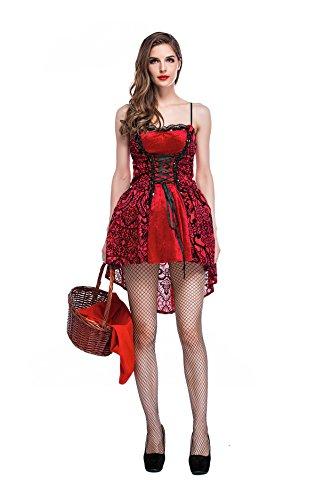 Riding Red Frauen Hood Kostüme Little Halloween (Frauen Kleine Red Halloween Kostüm)