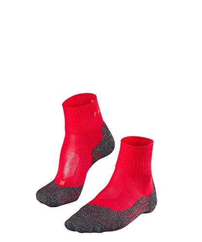 FALKE TK2 Short Cool Damen Trekkingsocken / Wandersocken - rot, Gr. 37-38, 1 Paar, knöchel-high (kurz), kühlende Wirkung, mittelstarke Polsterung -