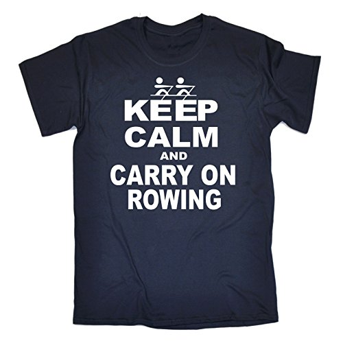 123t Men's KEEP CALM AND CARRY ON ROWING Men's T-SHIRT birthday funny gift for him for her