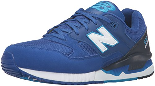 New Balance M530PIB, M530 Classic Running Homme - Bleu - Bleu/Noir/Blanc, 43 1/2 EU