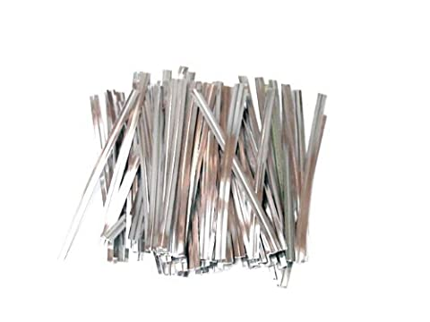 100 Silver 3 Inch 75mm Plastic Twist Ties By Classikool