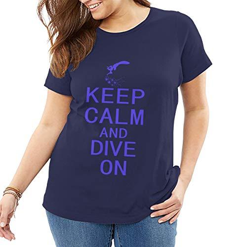 Ruhe bewahren und tauchen Landung, Womens T Shirt Baumwolle Tee Tops Freizeithemd Street Wear -