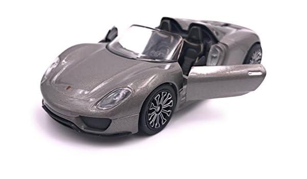 PORSCHE 918 SPYDER modello di auto auto prodotto con licenza GRIGIO 1:34-1:39