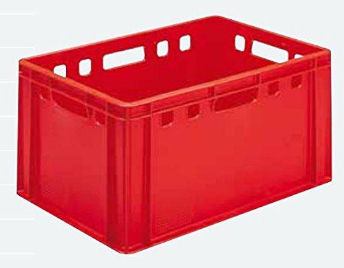 Euro - Fleisch - Kiste E1 / E2 / E3 oder Deckel (E3 rot (40x60x30cm))