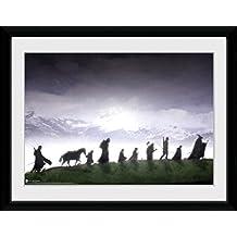 El Señor De Los Anillos - Fellowship Póster De Colección Enmarcado (40 x 30cm)