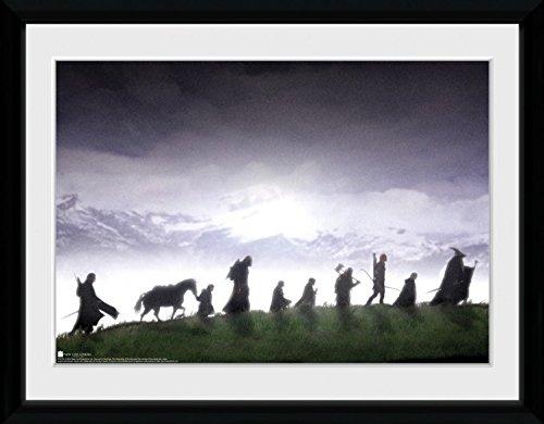 1art1 90476 Der Herr Der Ringe - Fellowship Gerahmtes Poster Für Fans Und Sammler 40 x 30 cm