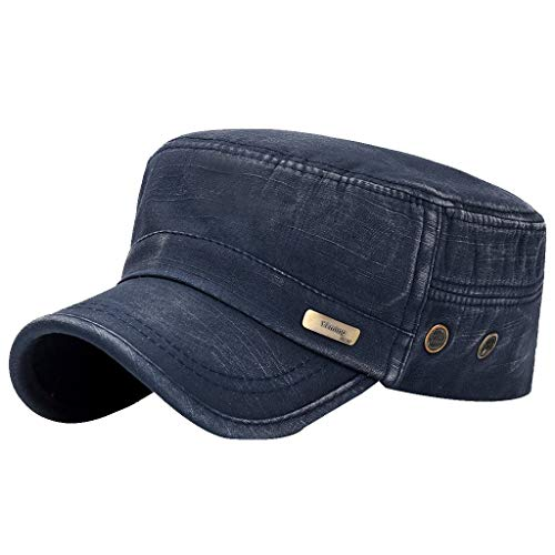 Fenverk Herren Baseball Cap Classic Vintage Cotton Basecap Snapback Caps Outdoor Kappe MüTze Unisex Kappen Hut Frauen MäNner(E Marine) Runde Marine-lautsprecher
