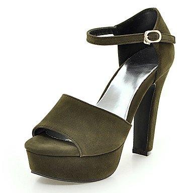 LvYuan Da donna-Sandali-Matrimonio Formale Serata e festa-D'Orsay Club Shoes-Quadrato-Finta pelle-Nero Verde Rosa Grigio Green