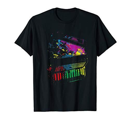 Splash Akkordeon T-Shirt Musiker Geschenkidee