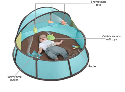 Babymoov Babyni UV Tent / Playpen (Blue / Taupe)