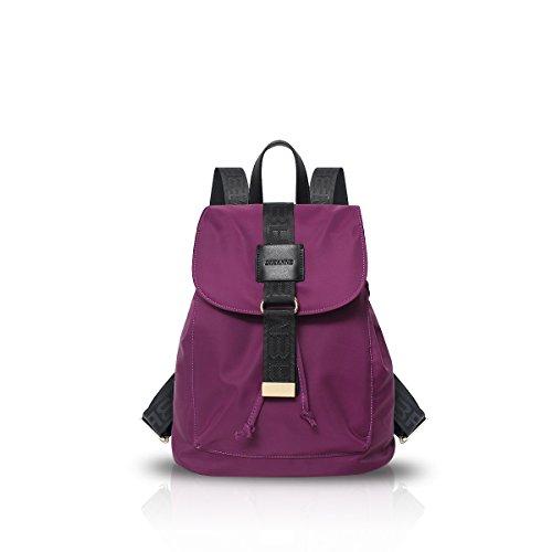 New Girl Travel Rucksack-Schul Daypack Freizeit Nylon Wasserdicht Schwarz Nicole & Doris Violett