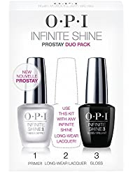 OPI Prostay Duo Pack Infinite Shine Primer & Gloss - Qualité professionnelle - 2x15 ml