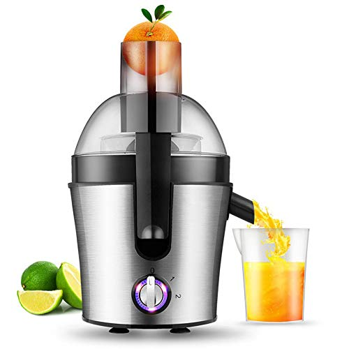 Lndixy Juicer Machine, Juicers Whole Fruit and Vegetable with Dual-Stage Quiet Motor & Reverse Function, 75mm Feed Chute 3 Speed Setting Centrifugal Power Juicer