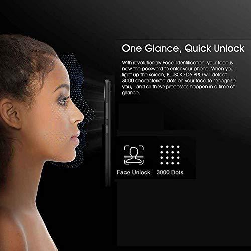 Bluboo D6 Pro 4G Dual SIM Smartphone, Android 8.1 Mobile Phones Unlocked, 2GB RAM+16GB ROM, Dual Rear Camera, Face ID & Fingerprint Unlock, 5.5 18:9 Display Screen Smart Phone (Red) Img 4 Zoom