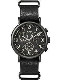 Timex Unisex-Armbanduhr Timex® Weekender™ Chrono Oversized Analog Quarz Leder TW2P62200