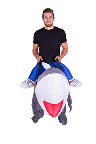 Imagen de disfraz de tiburón el gran blanco hinchable para adultos alternativa