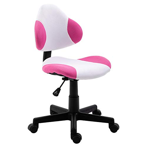 IDIMEX Schreibtischstuhl Osaka, Bürostuhl Drehstuhl Bürodrehstuhl, mit Netzbezug, in pink