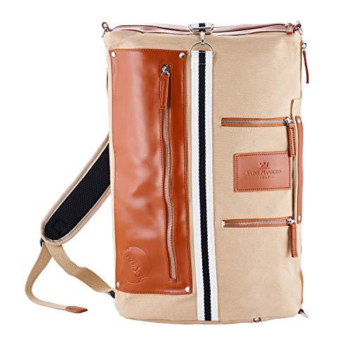 Saint Maniero Rucksack Damen Rucksack Herren Schulrucksack Mädchen Schulrucksack Jungen Laptop Backpack Tagesrucksack Daypack Laptoprucksack Uni Rucksack Uni Tasche Schultaschen (Sandfarben)