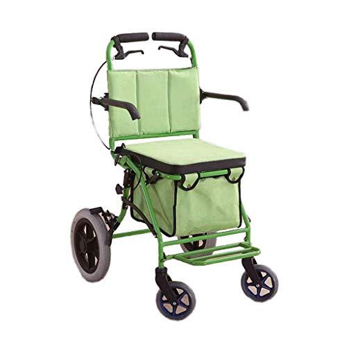 Kylinedc Einkaufswagen Trolley Grocery Carts Heavy Duty mit Rädern Tasche Wohnung Picknick Strand Reise Pull Utility Falttrolley Carts für Lebensmittel (Color : Green)