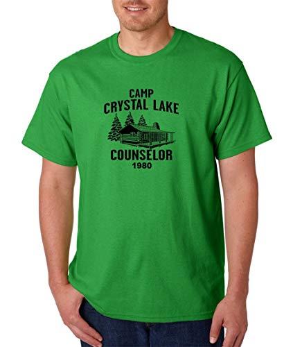 Camp Crystal Lake Counselor T-Shirt -Friday 13Th Jason Voorhees Freddy Halloween 2019 Hip Hop Men Cotton Short Sleeve T Shirts (Hip Hop Halloween 2019)